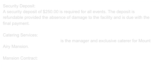 Security Deposit: